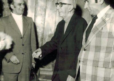 Andrea Zanzotto, Diego Valeri e Mario Grasso (Venezia, Ateneo Veneto, Ottobre 1974)