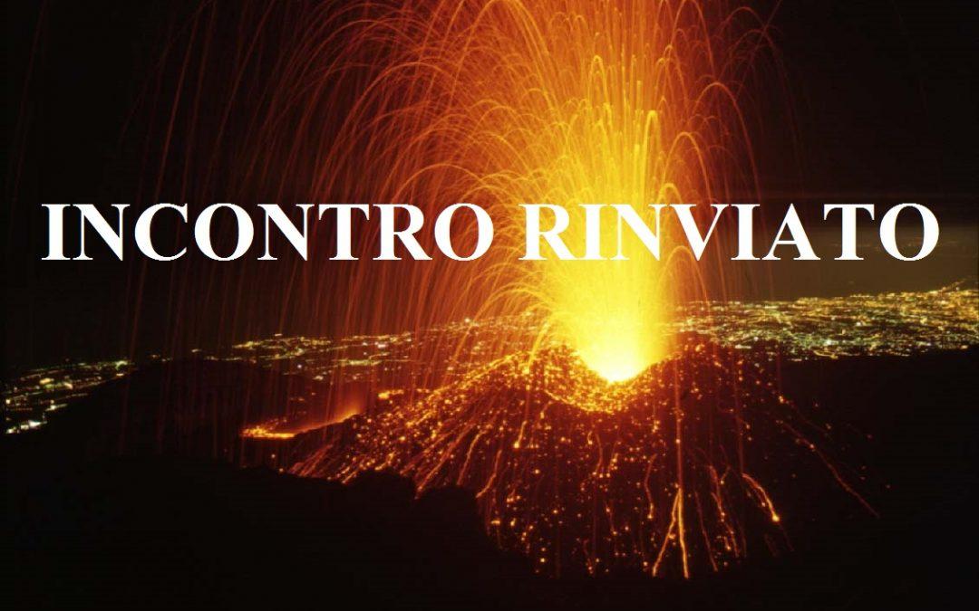 COMUNICATO – INCONTRO RINVIATO CAUSA SISMA