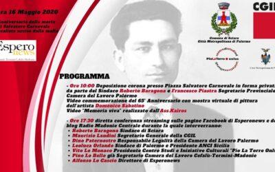 65° Anniversario della morte di Salvatore Carnevale  Sindacalista ucciso dalla mafia